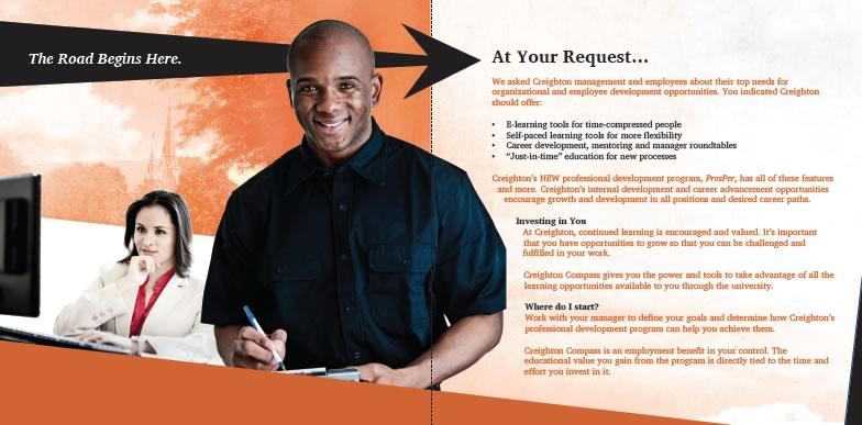 Brochure for Creighton University's Compass program