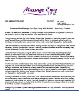 Press release for Your Story contest